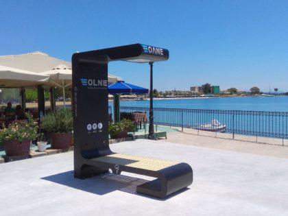 Εγκατάσταση Έξυπνου Παγκακίου (Smart Bench) στο Λιμάνι της Ερέτριας